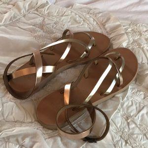 Joie Metallic Sandals